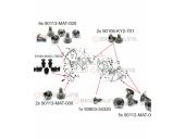 RVS kuip-bevestigingsmaterialen Honda Blackbird  59-delig (imitatie)